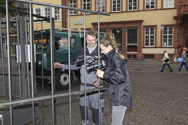 Aufbau und Interview mit Spiegel TV